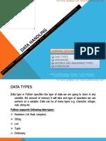 009 Data Handling