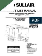 Sullair 1600RH Parts Manual