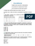 Maria Fernanda  Lista #6 – Matemática - Polinômios