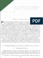 García Pelayo, Derecho constitucional (Francia)