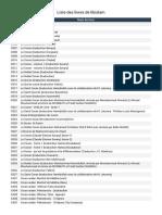 Liste des livres de libislam (1)