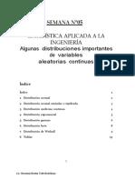 SEMANA N°5 - distribuciones continuas importantes