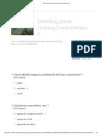 Describing Places Listening Comprehension 2