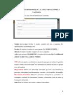 ESTRUCTURA INSTITUCIONAL PARA EL AULA VIRTUAL GOOGLE CLASSROOM. v2docx