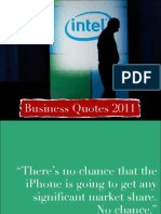 Business Quotes, December 2010