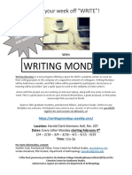 writing mondays flyer