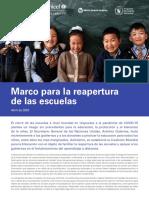 Marco para la reapertura de las escuelas_Unesco Abril 2020