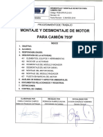 PCSI-OPE-FLC-010 DESMONTAJE Y MONTAJE DE MOTOR PARA CAMION 793-F