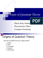 Origin of Quantum Theory +++
