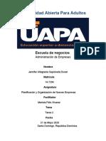 Tarea 2 de Planificación y Organización de Nuevas Empresas