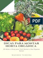 Como Montar Horta Orgânica Em Casa