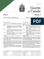Gazette Du Canada