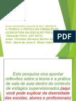 ESTÁGIO E FORMAÇÃO INICIAL DE PROFESSORES