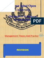 Lec 11 Management theory and practice