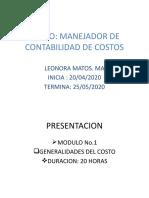 COSTOS MODULO 1
