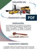 legislación del transporte urbano. - copia