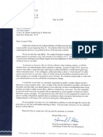 Archdiocese letter to walz