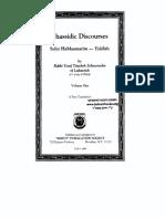 1 - Chassidic Discourses
