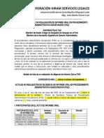 Modelo Acta de No Realización de Informe Oral en Pad - Autor José María Pacori Cari