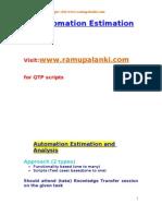 QTP Automation Estimation Techniques