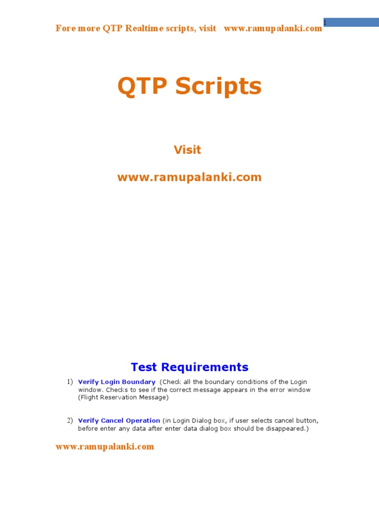 Qtp scripts for flight reservation baditri Image collections