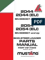 mustang 2054  parts manual