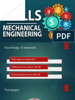 Skills required for a mechanical job