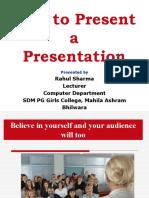 9226718 How to Present a Presentation