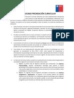 Orientaciones implementación Priorización curricular Chile 2020