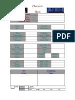 Highlander Character Sheet