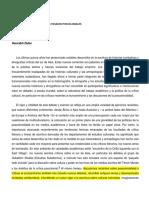DUBE Temas e intersecciones de los pasados poscoloniales