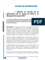 El silencio de la Diputación en los recortes de la Junta
