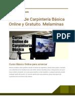 Manual de Carpinteria Basica Online y Gratuito Melaminas