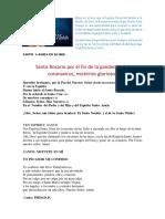 Santo Rosario por los enfermos de COVID 19-Misterios Gloriosos -03-05-2020