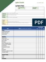 Meeting Logistics Checklist