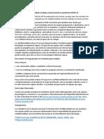 Confidencialidad y trabajo remoto durante la pandemia COVID-19