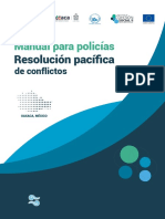Manual para policias. resolución pacífica de conflictos