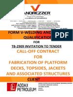 FORM V _ WELDER AND WELDING QUALIFICATION