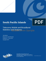 SAMPLE - South Pacific Islands - Telecoms, Mobile, Broadband - Statistics and Analyses (1)