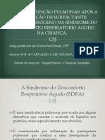 Efeitos Na Função Pulmonar Após a Utilização De Surfactante