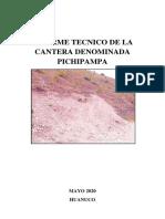 Informe de la cantera Pichipampa (2)