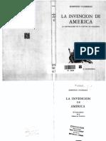 O'Gorman, La invención de América (l)