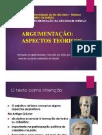 TEXTO - Aspectos teóricos da argumentação 2020