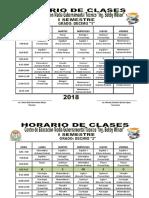 HORARIO DE CLASES  BOBBY WILSON 2018 BTP