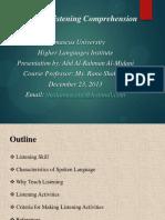 teachinglisteningcomprehension-140111130125-phpapp01