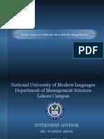 Internship Report (Punjab Resource Management Program)
