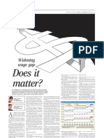 Widening wage gap