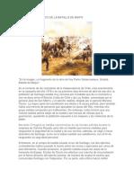 Desarrollo táctico de la Batalla de Maipo