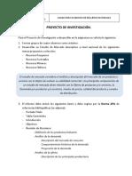 PROYECTO DE INVESTIGACION RECURSOS HIDRICOS