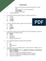 cuestionario del examen ingeominas